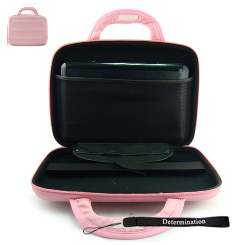 Philips PET741B/37 Portable DVD Player 7-Inch LCD Kroo 11275 Cube Case Carrying Briefcase Special Edition Pink + Determination hand (Kroo Carrying Case)