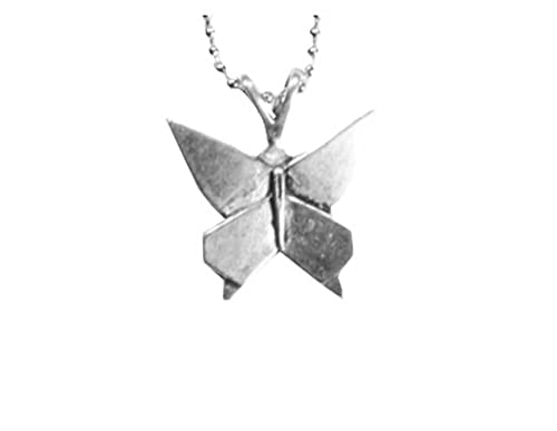 Amazon.com: Bañado En Plata simbología Origami mariposa ...