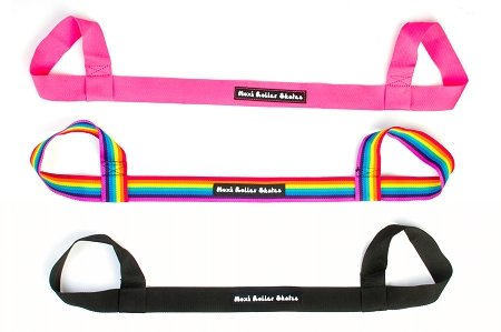 Moxi Skates Roller Skate Leash / Over Shoulder Sling - Choose Pink, Black, Or Rainbow! (All 3 Colors!)
