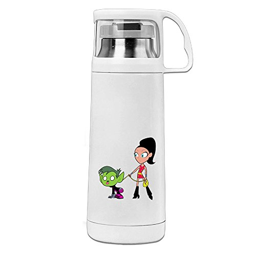 Crimson Peak Costumes (Beauty Teen Titans Go Thermos Cup Mug With A Handle Vacuum Insulated Cup For Hot And Cold Drinks Coffee,Tea Travel Thermal Mug,14oz White)