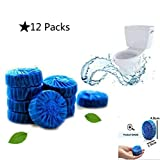 Best Automatic Toilet Bowl Cleaners - 12 Pieces Antibacterial Blue Automatic Toilet Bowl Bathroom Review