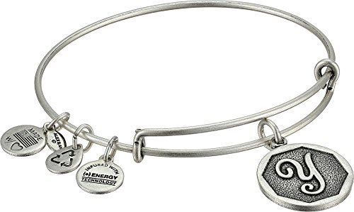 Alex and Ani Rafaelian Silver-Tone Initial Y Expandable Wire Bangle Bracelet, 2.5'' by Alex and Ani