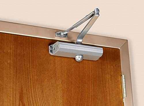 Norton 1604BC Series Door Closer, Tri-Style (Regular, top jamb, or Parallel arm), Back Checked, Non-Handed, Size 4, Cast Aluminum (1604BC-689)