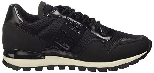 Bikkembergs Fend-er 739 Low Shoe M Rubber Leather/Fabric, Sandalias con Plataforma para Hombre negro