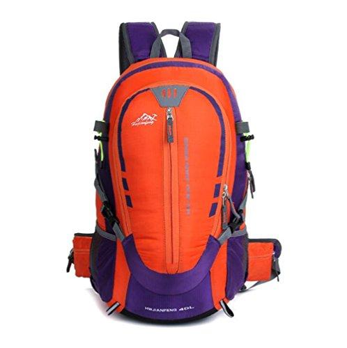 Wmshpeds Outdoor montañismo bolsa deportes masculinos y femeninos en los hombros de mochilero camping paquete de deportes B