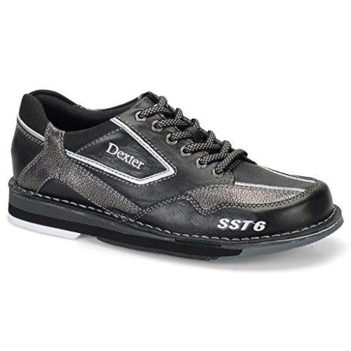 Dexter Mens SST 6 LZ Bowling Shoes- Right Hand (10 1/2 M US, Black/Alloy) by Dexter Bowling Shoes