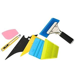 YaeTek 7 in 1 Car Window Film ToolsSqueegee Scraper Set Kit
