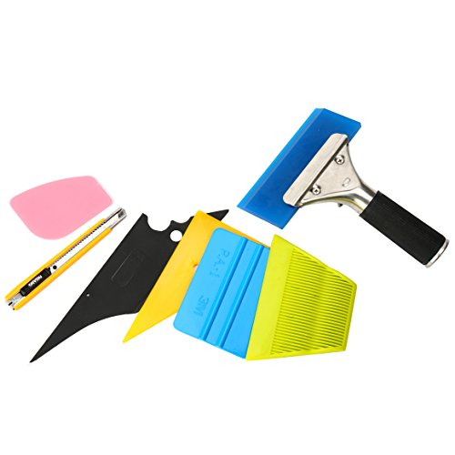 YaeTek 7 in 1 Car Window Film ToolsSqueegee Scraper Set Kit
