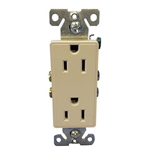 Cooper Wiring Devices 9505DS Aspire Duplex Receptacle with 15-Amp, 125-Volt, 5-15-NEMA Rating, Desert Sand
