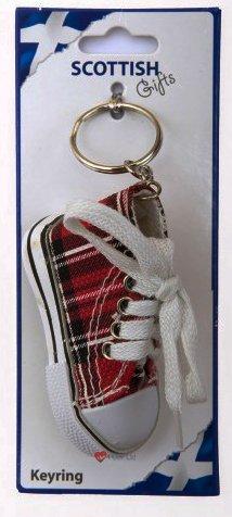 【安心発送】 Red Tartan Red Baseball Boot Keyring Tartan Keyring B007OBJPWW, 100%の保証:46129026 --- yelica.com