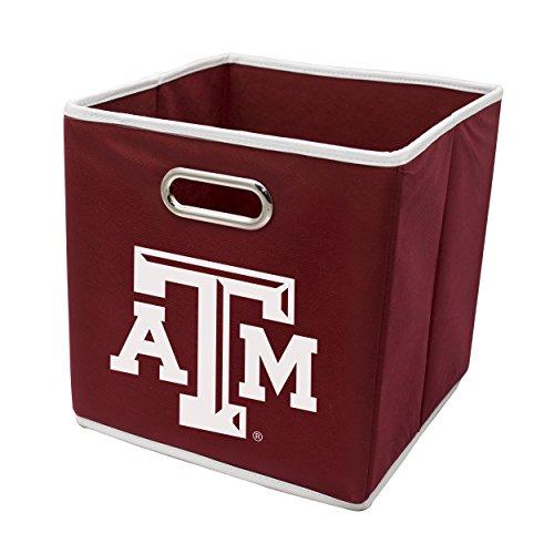 (Franklin Sports Texas A&M Aggies Collapsible Storage Bin - Made to Fit Storage Bin Shelf Organizers - 10.5