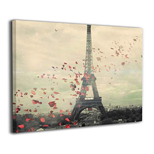 POOPEDD Paris Wallpaper Oil Painting Digital Print On Wall Art Canvas Home Decor Canvas Paintings for Bedroom Ready to Hang