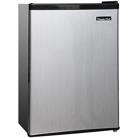 1 - 2.4CBFT REFRIGRTOR STNLS, 2.4 Cubic-ft. Refrigerator, 2.4 cu ft capacity , Full-width in-door storage shelves , Adjustable thermostat control , Freezer compartment , Adjustable wire shelves …
