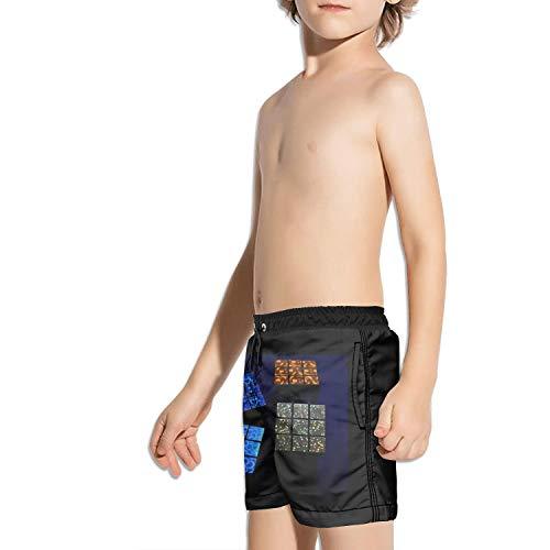 Ouxioaz Boys' Swim Trunk Love Galaxy Cubes Beach Board Shorts by Ouxioaz (Image #2)