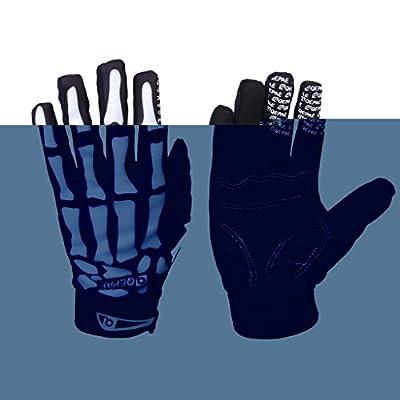 SanWay Skeleton-Pattern Full Finger Bicycle/Cycling/Bike Sporting Gloves
