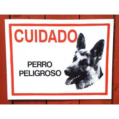 Perro pastor alemán - ¡Peligroso Cuidado español muestra ...