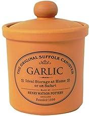 Henry Watson - Garlic keeper - Made in England - 9.5 cm x 10 cm - Terracotta