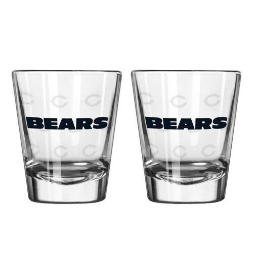 Chicago Bears Shot Glass - 2 Pack Satin - Discount Eyewear Outlet