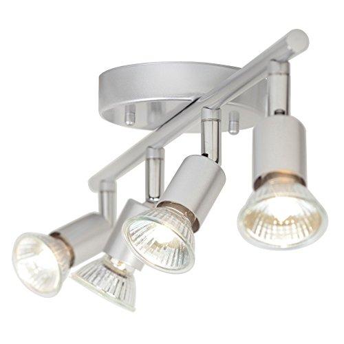 Globe Electric 4-Light Track Kit Light Bar, Brushed Silver Finish, GU10 Bulb Base Code, 58932 by Globe Electric (Image #2)