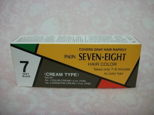 PAON SEVEN-EIGHT CREAMY TYPE HAIR COLOR SOFT BLACK # 7 by paon seven eight