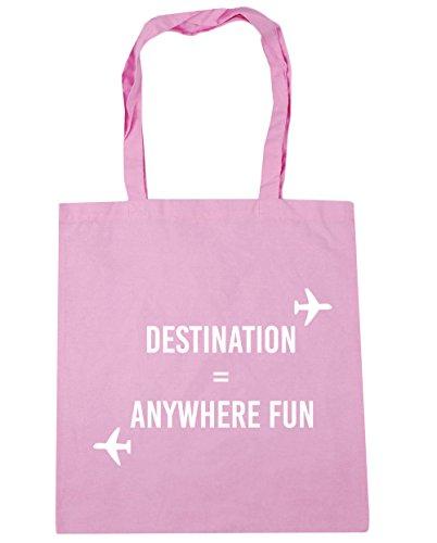 HippoWarehouse destino cualquier lugar diversión bolsa de la compra bolsa de playa 42cm x38cm, 10litros Classic Pink