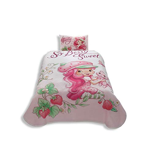 Disney Strawberry Shortcake Girl's Coverlet Set Bedspread Pique Single / Twin Size Kids ()