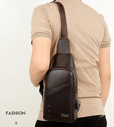 Dos Shanzwh Sports Multifonction Pu En Mode Épaule Pour Plein Hommes Sac marron De À Bandoulière Cuir Air A8OqrAz