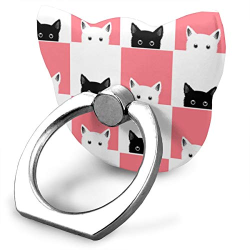 - Black White Pink Cat Checkerboard Phone Ring Stand Holder Metal Finger Grip Stand Holder Ring,Car Mount 360 Rotation Phone Ring Grip Tablet PC Smartphone