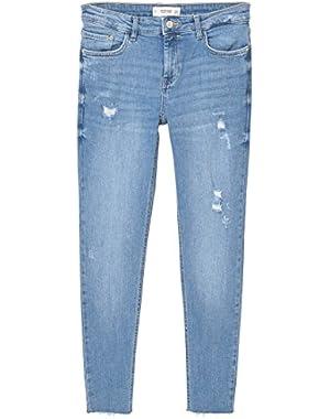 Mango Women's Crop Skinny Isa Jeans