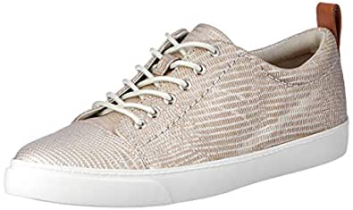 Clarks Women's Glove Echo Lace-Up Flats, Silver, 10 US