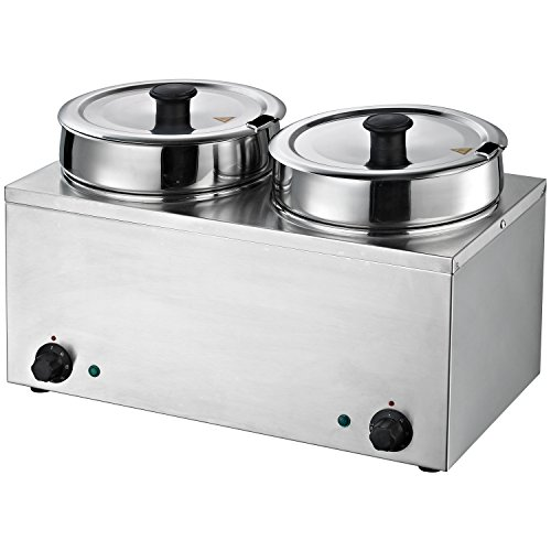 Hakka Commercial Countertop Food Warmer/Buffet Soup Pot (3.5Lx2)