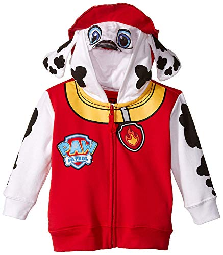 Nickelodeon Little Boys' Paw Patrol Marshall Toddler Costume Hoodie, Red, 3T]()