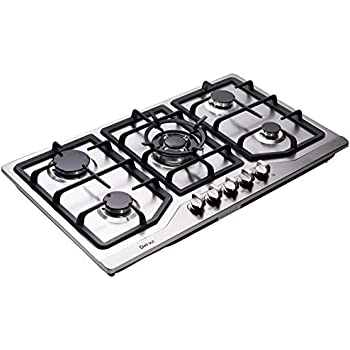 Amazon.com: Deli-kit DK258-A08 34 inch Gas Cooktop gas hob ...