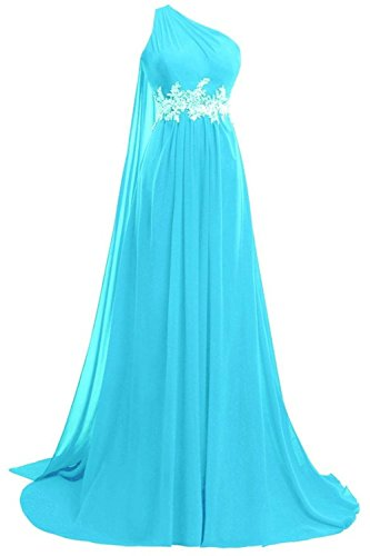 Buy blue beaded one shoulder dress - 3