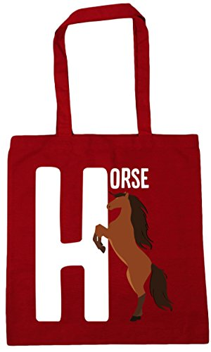 horse Red litres is Gym for Bag HippoWarehouse Tote H x38cm alphabet animal 10 Classic Shopping Beach 42cm wtB46FBaqx