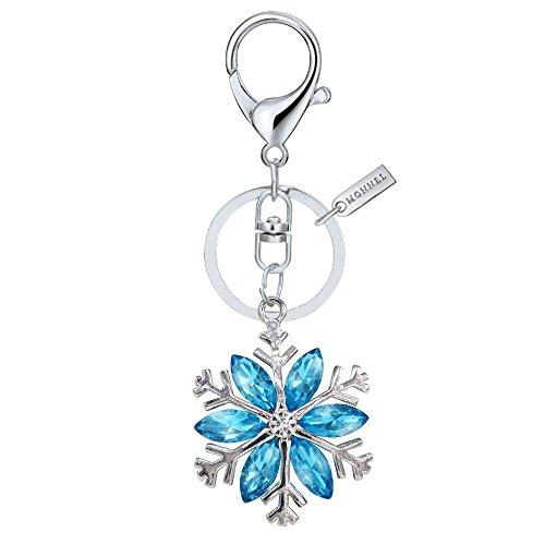 (Bling Crystal Blue Snowflake Key Ring Creative Packaging Box MZ826-1)