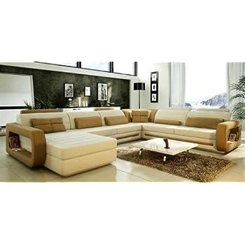VIG Furniture VGEV SP 1005 Divani Casa 1005   Modern Bonded Leather  Sectional