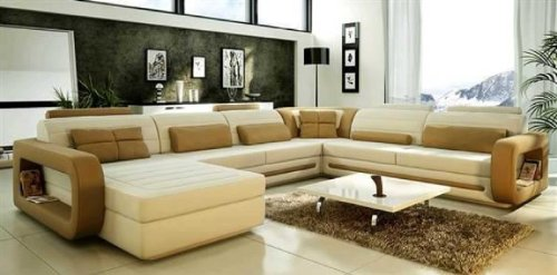 VIG Furniture VGEV-SP-1005 Divani Casa 1005 - Modern Bonded Leather Sectional