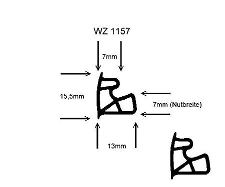 5m-Stahlzargendichtung WZ 1157 Farbe Weiss