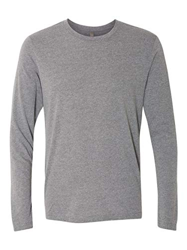 Next Level Men's Rib-Knit Tri-Blend Long-Sleeve T-Shirt, L, Premium Heather