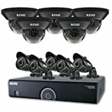 Surveillance Camera DVR Bundle - 5 Indoor Dome Night Vision CCTV, 5 Outdoor Weatherproof Bullet Cameras, 16 Ch 4TB Digital Video Recorder, 60Ft Cables