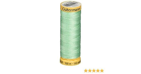 103C-7920 Gutermann Natural Cotton Thread 110 Yards-Light Mint Green