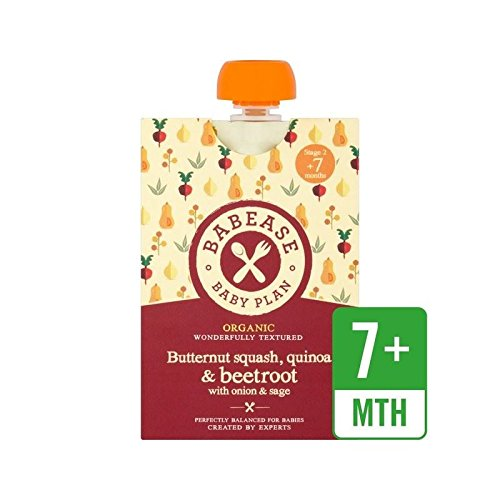Butternut Squash Sage (Babease Organic Butternut Squash, Quinoa & Beetroot with Onion & Sage 130g - Pack of 4)