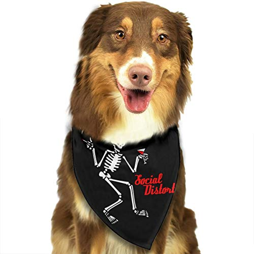 FRTSFLEE Dog Bandana Social Distortion Skeleton Scarves Accessories Decoration for Pet Cats and Puppies