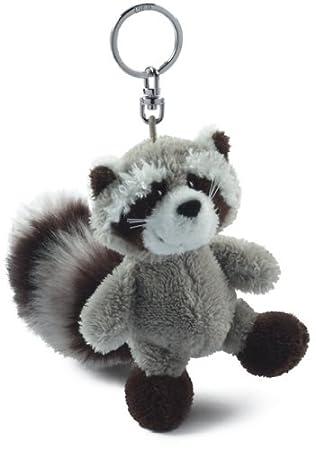 Nici 30900 - Llavero con mapache de peluche (lavable, relleno de ...