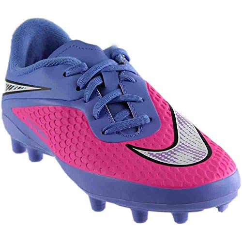Nike Jr. Hypervenom Phelon FG Kids 5.5y Pink Pow/Chrome/Polar/Black ()
