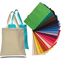 1 Dozen - Heavy Cotton Canvas Tote Bag (Assorted Mix) by ToteBagFactory