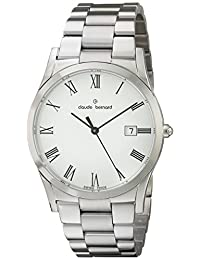 Claude Bernard Men's 70163 3 BR Classic Gents Analog Display Swiss Quartz Silver Watch