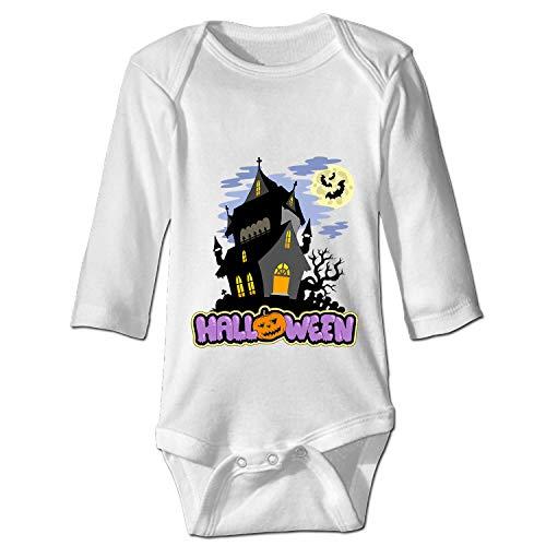 Yantani Baby Boy Girl Newborn Spooky Manor Halloween Long Sleeve Bodysuit ()