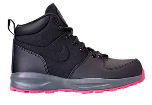 Nike Manoa Big Kids Shoes Black/Black/Hyper Pink aj1283-001 (7 M US)